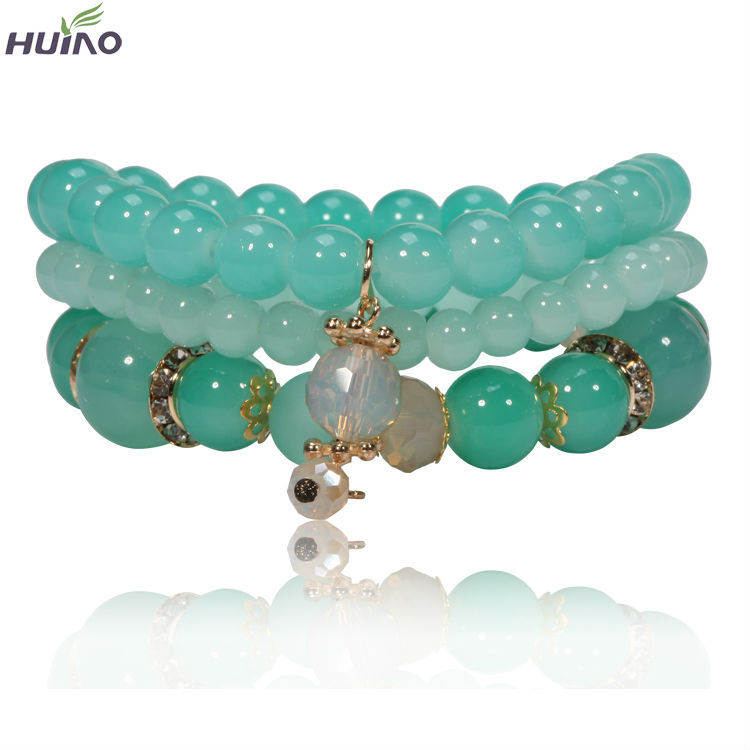 2018 Natural Stone Beads Bracelets For Women Crystal Simple Yoga Women Bracelet Bangles Jewelry Pulseira Feminina Gift Aromatic Flavor