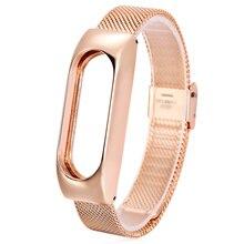 Cinturino in metallo per cinturino Mi Xiaomi cinturino sostituisci accessori bracciale in acciaio inossidabile senza viti per cinturino Mi 2