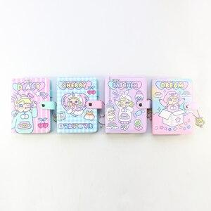 Image 2 - Domikee キャンディかわいい韓国ハードカバー革 6 リングスパイラルバインダープランナーノートブック、かわいい学校のノートブックやジャーナル