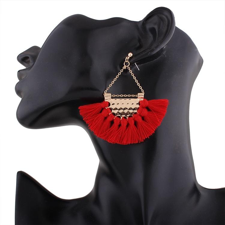 Серьги подвески naomy & zp с кисточками для женщин в богемном