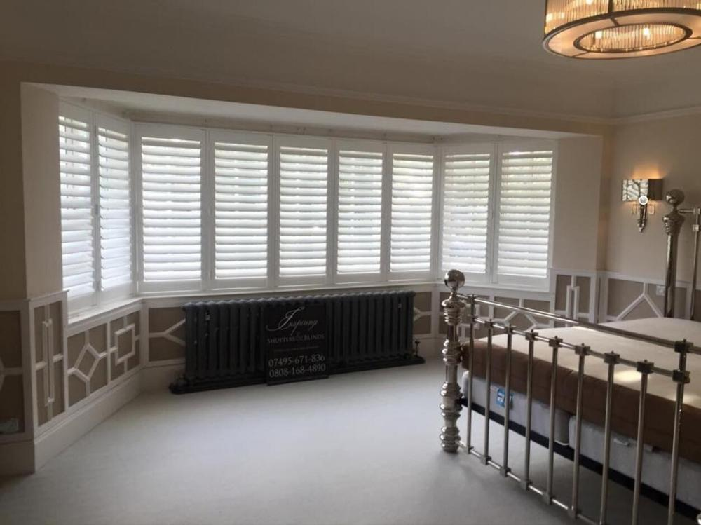 Highly Durable Window Shutters Arch Top Rail Wooden Blinds Solid Wood Shutter Louver Wood Folding Shutters