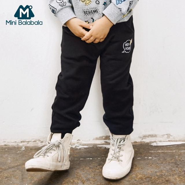 Mini Balabala Boys Jogger Children Cotton Casual Long Trousers Kids Clothing Harem Pant Elastic Waist Jogger Spring Autumn Pant