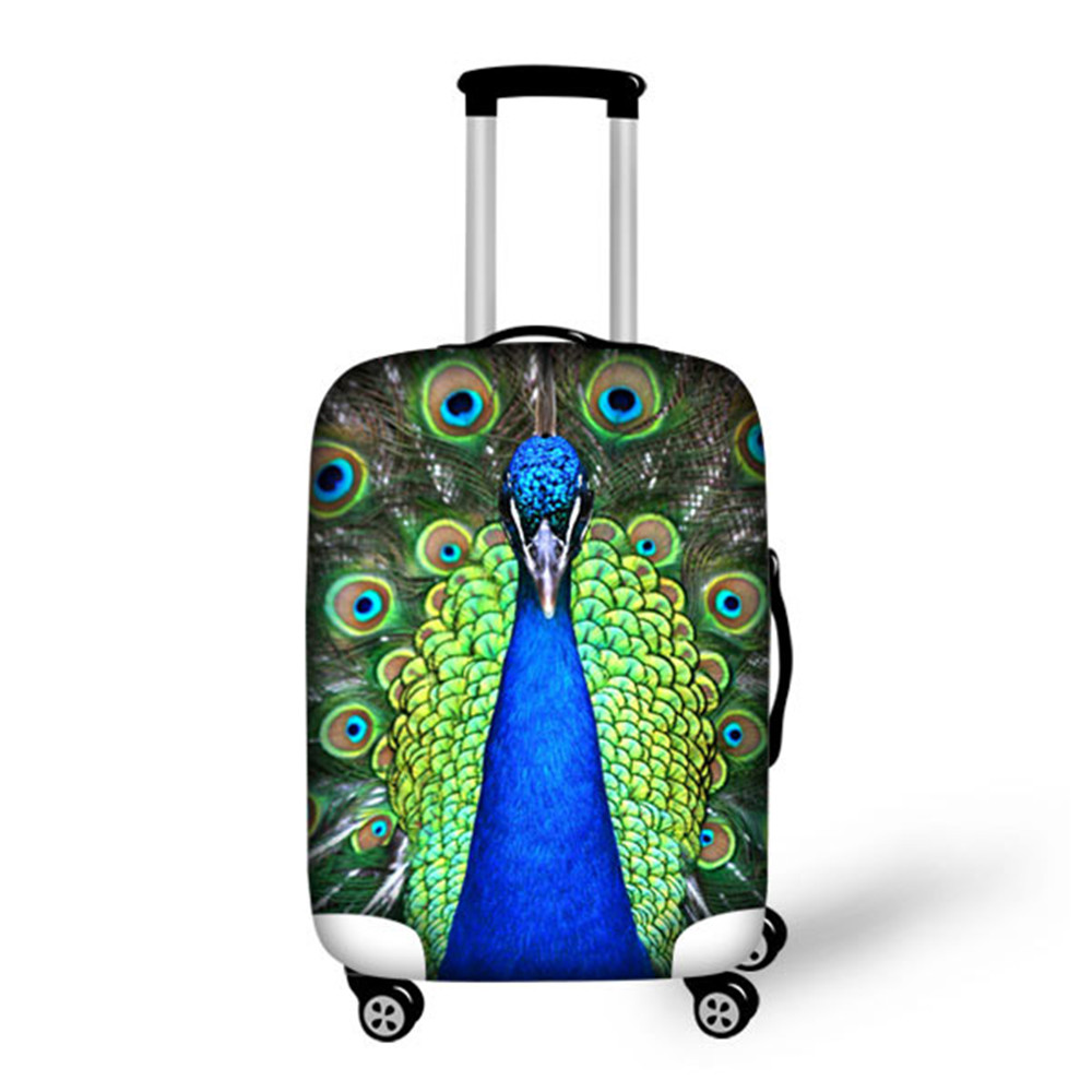 FORUDESIGNS Durable Luggage Protective Cover Animal 3D Print Elastic Travel Dustproof Case Cover for 18 28