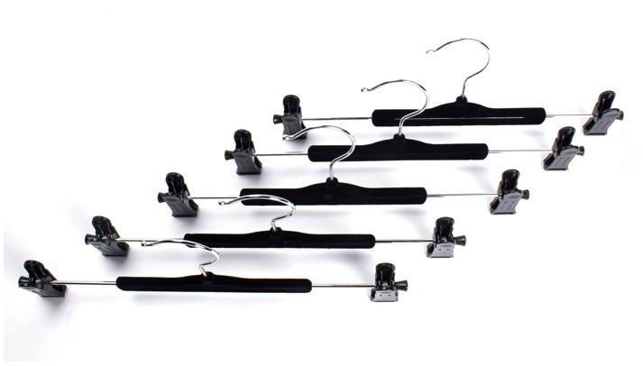 Hangerlink Black Velvet Flocked Hanger with clips for - სივრცის შენახვისა და ორგანიზების - ფოტო 4