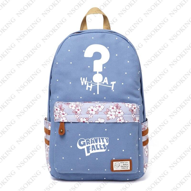 89a5e0ed6607 Гравити Фолз рюкзак аниме школьные холст цветочный принт сумки мужские и женские  популярные Мейбл Диппер Пайнс Косплей дорожная сумка купить на AliExpress
