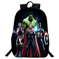 Wholesale 2016 New Style Polyester 16 Inch Prints Cartoon Avengers Boys School Bags for Teenagers Backpacks for Children Gifts