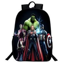 En gros 2016 Nouveau Style Polyester 16 Pouce Gravures de Bande Dessinée Avengers Garçons Sacs D'école pour Les Adolescents Sacs À Dos pour Enfants Cadeaux