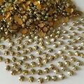 400 Unids/bolsa SS6 Mineral De oro SS12 Rhinestone de la Resina Del arte Del Clavo de 2mm 3mm 14 Facetas Tiranos Locales Oro belleza es taladro del palillo del teléfono 23 #