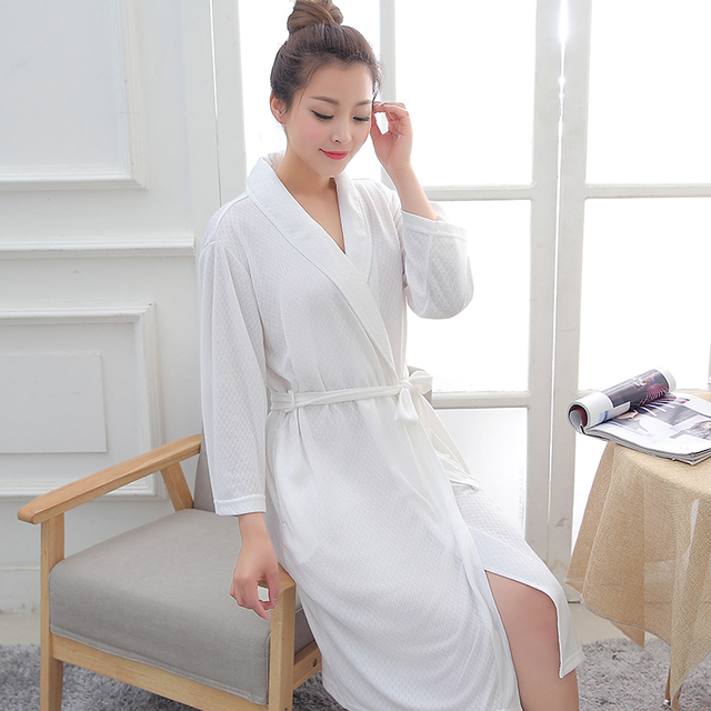 New Fashion Women Jacquard Summer Bath Robe Femme Water Absorption Kimono  Bathrobe Dressing Gown Bride Bridesmaid Robes Wedding 09060d570