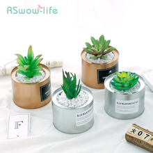 Creative Decoration Artificial Plants Succulent Pot Leaf For Plant Of Living Room Window Sill