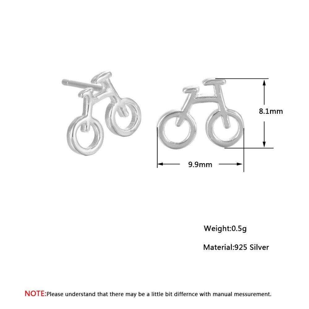QIAMNI 925 Sterling Silver Biciklističke Stud naušnice Naušnice za - Modni nakit - Foto 5