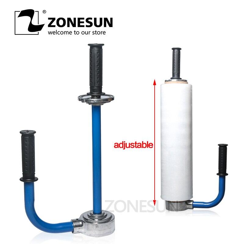 ZONESUN E610 76mm Economy Manual Stretching Film Wrapping Tool Hand Stretch Film Wrapping Machine Hand Stretch Film Dispenser