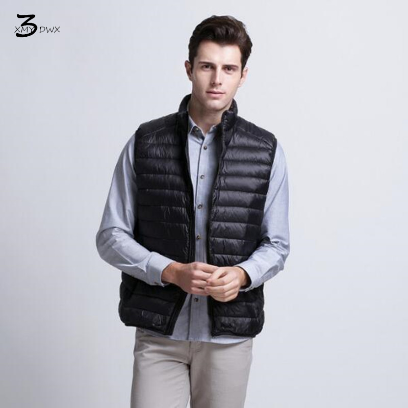 XMY3DWX fashion men in winter to keep warm 90% white duck down Vest/Male high-grade Ultra light ultra-thin feather coat