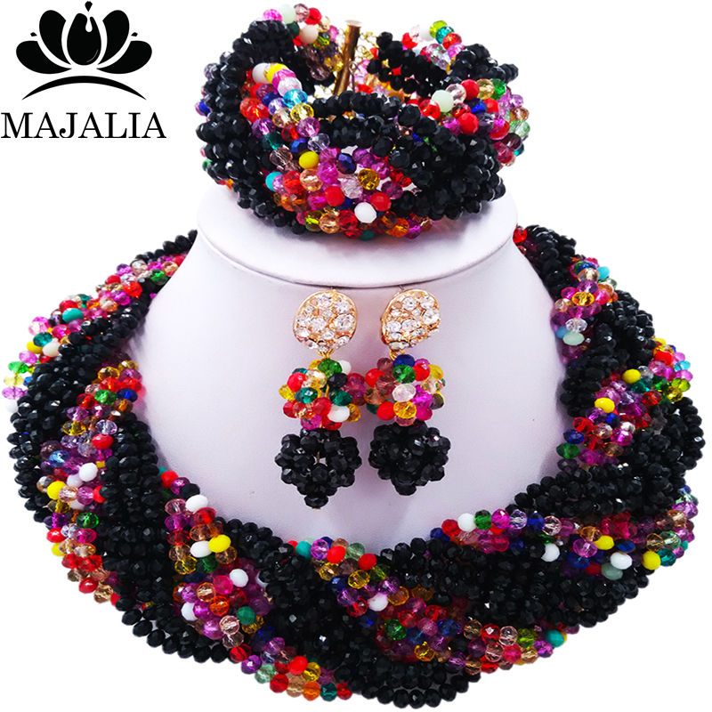 Majalia Fashion Women Multicolors African Costume Jewelry Set Nigerian Wedding African Beads Jewelry Set   CX-029Majalia Fashion Women Multicolors African Costume Jewelry Set Nigerian Wedding African Beads Jewelry Set   CX-029