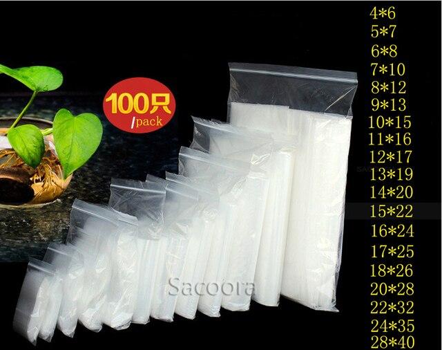 Jóias Ziplock Zip Com Fecho de Bloqueio Reclosable Plástico Poly Limpar Sacos Espessura 0.12mm