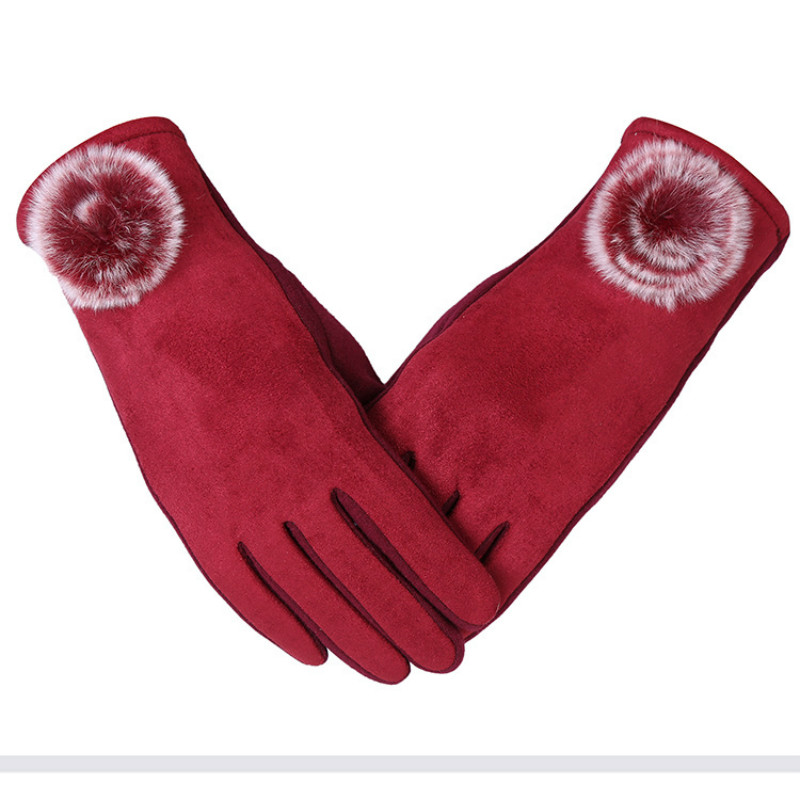 Fashion Guantes Mujer Women Gloves Screen Winter Gloves Women Warm Gloves Mittens With 5 Colors