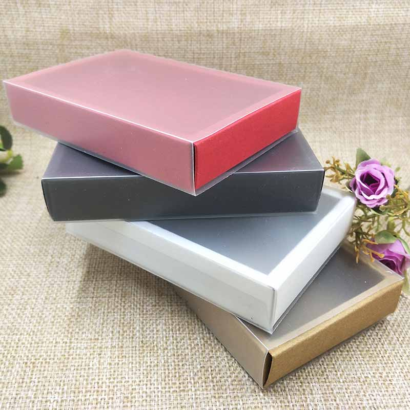 20ps/Lot 2018 New Drawer Gifg Boxes For Necklace /Eaarring Packing PVC /Paper Cover Box  Cake/Candy Wedding Favour BOX