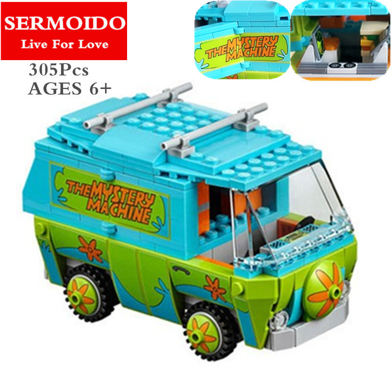 SERMOIDO 305 Pcs Building Blocks Scooby Doo The Mystery Machine 75902 Model Compatible Lepine Figure Toy For Children B46 lepine model
