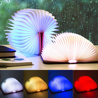 Foldable Pages Night Light Folding Led Book Shape Light Lamp Portable Booklight Usb Rechargeable Table Book Light for Decor