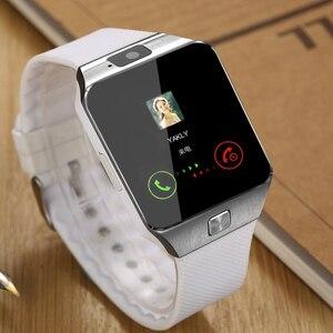 Image 2 - DZ09 Smartwatch akıllı saat Dijital Erkekler İzle Apple iPhone Samsung Için android cep telefonu Bluetooth SIM TF Kart Kamera