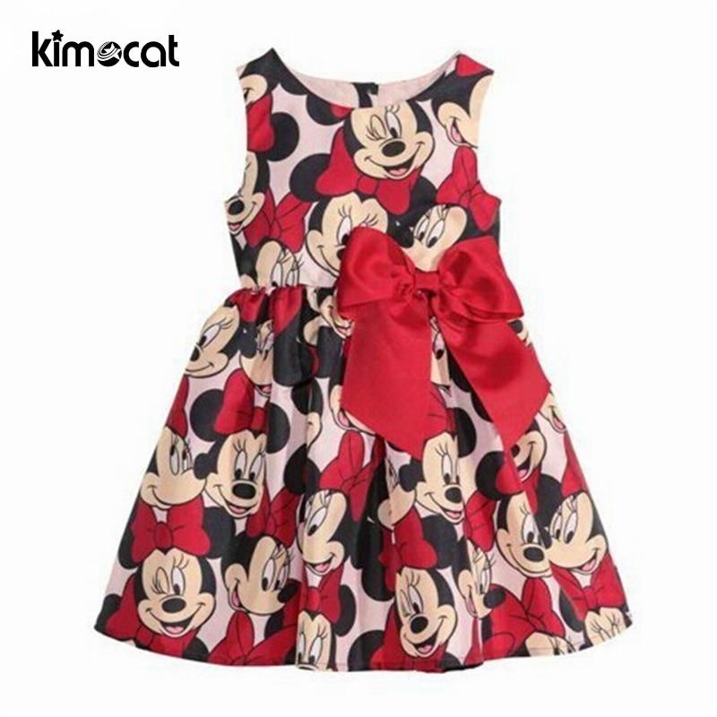 Kimocat New summer dress Minnie Mouse Dress girls clothes printing dot sleeveless dress dress girl fashion