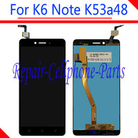 Black 100 New Touch Screen Digitizer Glass LCD Display Assembly For Lenovo K6 Note K53a48 Free