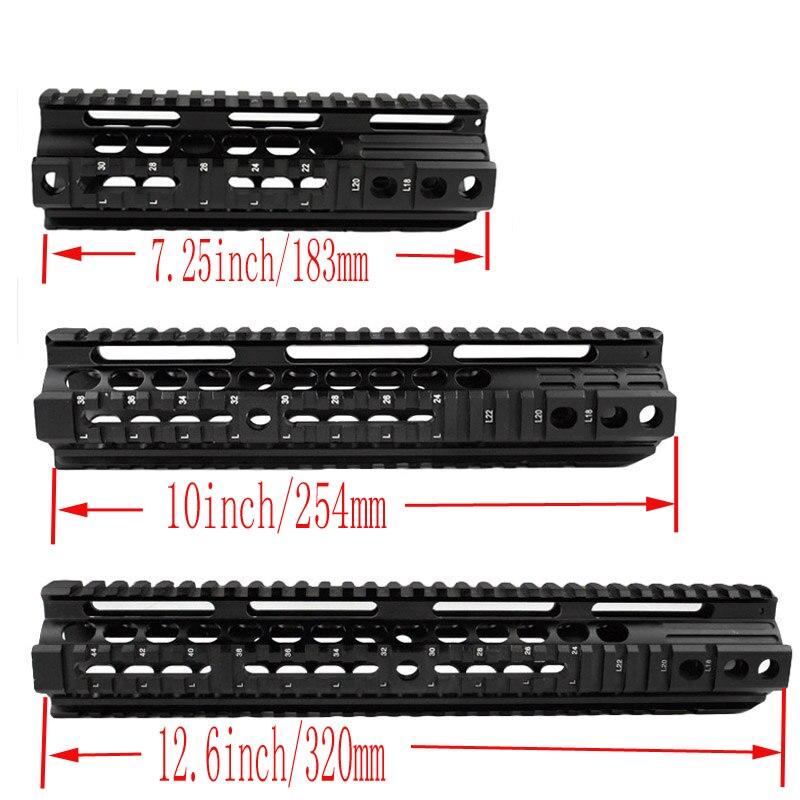 Chasse rail Picatinny 7.25 pouces 10 pouces 12.6 pouce tactique protège-main système ferroviaire pour Airsoft AEG