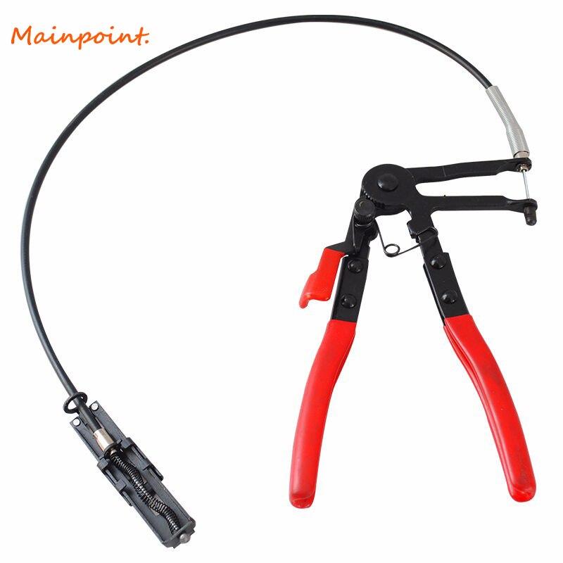 Auto herramientas del vehículo tipo de Cable alambre Flexible largo alcance abrazadera Alicates para las reparaciones del coche abrazadera Removal herramientas de mano alicate