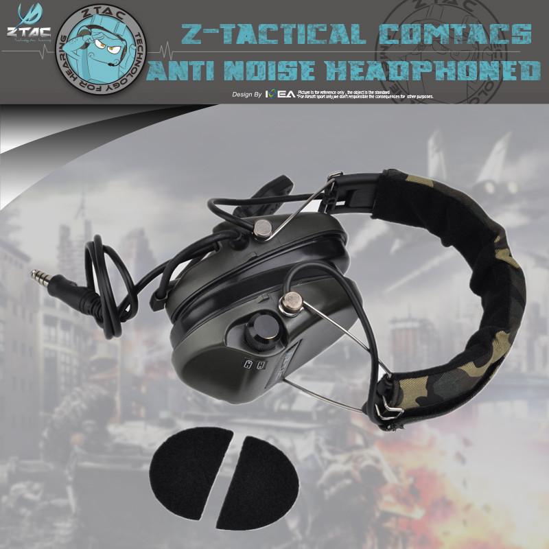 Element ZTAC Z111 Thoradin Pickup Noise Reduction Headset Intercom Headset Army Fan Msa Tactical Headset  CS Game Communication