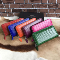 Luxury genuine crocodile skin wallet women crocodile belly leather clutch long wallet
