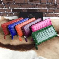 Luxury genuine crocodile skin wallet women crocodile belly leather clutch long wallet
