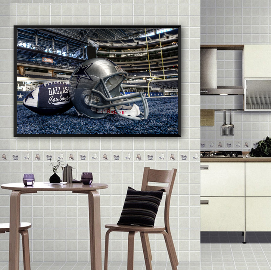 cowboys football helmet chair teardrop swing unframed modern wall art home decor painting dallas pictures for drawing room canvas print in calligraphy from