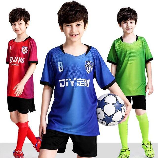 Camisetas de fútbol para niños 088e32b92e154