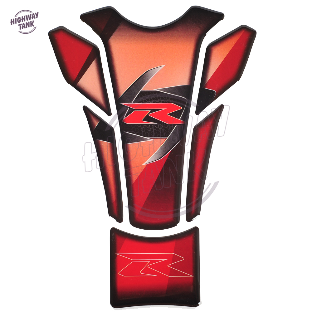 3D Motorcycle Protective Tankpad Motocross Decal Fuel Tank Pad Stickers Case For Suzuki GSX-R R125 R250 R600 R750 R1000 1300R
