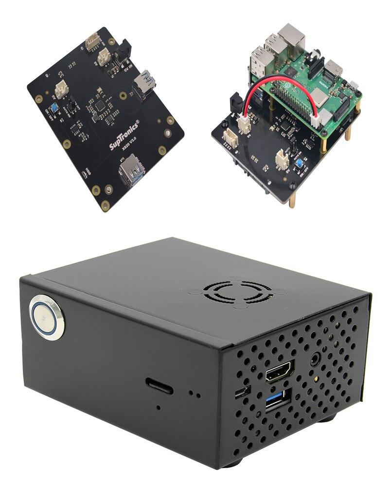 Nouveau X820 V3.0 USB 3.0 SATA HDD/SSD Carte D'extension + Cas De Stockage Pour Raspberry Pi 3 B +