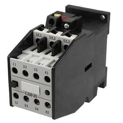 цена на CJ20-25 Motor Control 32A 380V 50Hz Coil 3 Pole 2NO 2NC AC Contactor