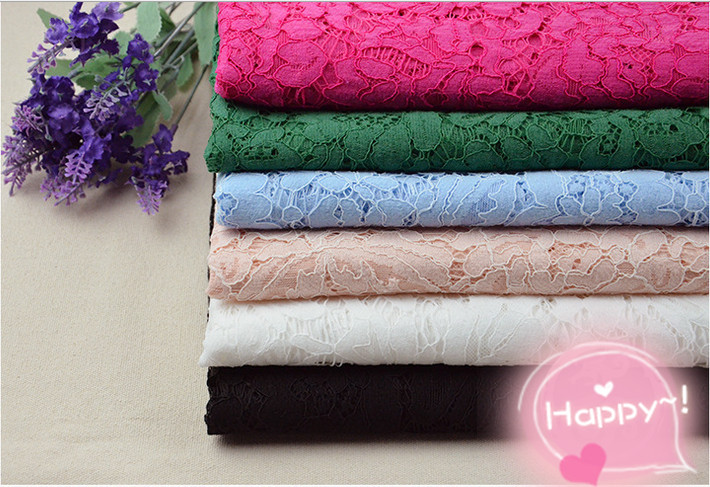 10pcs HOt sale New high quality African flower lace fabric for wedding dress,wide150cm length:150cm ,10 colors in stock