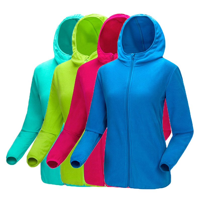 Winter Men's Women's Fleece Warm Skiing Jacket Windproof Hooded Polar fleece Softshell Coats Hiking Camping Couples Jacket UM407