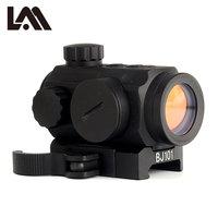 LAMBUL QD 1X21 Low Profile Red Dot Sight Quick Detach Tactical Hunting Reflex 5 MOA Scope Weaver Picatinny Mount AR 15