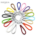 Brands HAVARIA PU Leather Rope Woven 15 colors keychain men women key holder chain ring car llaveros bag pendant Charm gxy-001