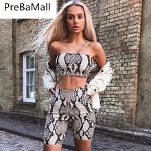 2019 Elegant Tracksuit Womens Casual Shinny Tube Tops Shorts Bodycon Two Piece Set Outfits Short Sport Jumpsuit Clothing C138