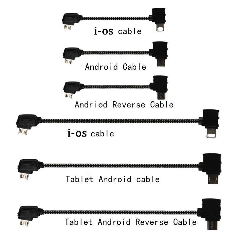 Télécommande câble de données ligne DJI Mavic Pro Air 2 fils Connet téléphone portable tablette Transmission Android Micro USB/type-c IOS