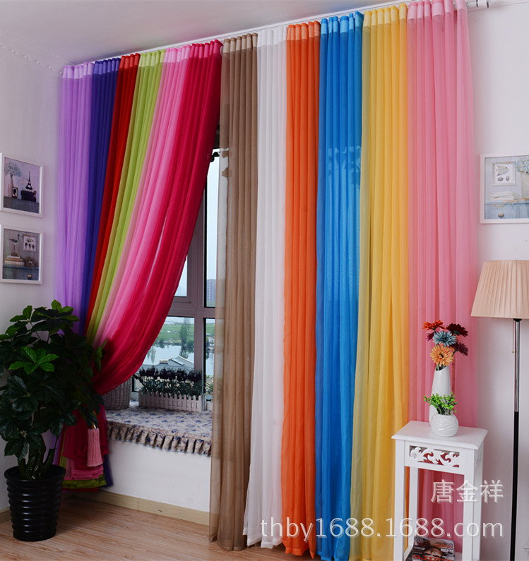 Tulle Window Curtains Diy Cool 2015 New Beautiful See Through Vogue 1*2.7m  Voile Sheer Curtains Decorative Screening-in Curtains from Home & Garden on  ...