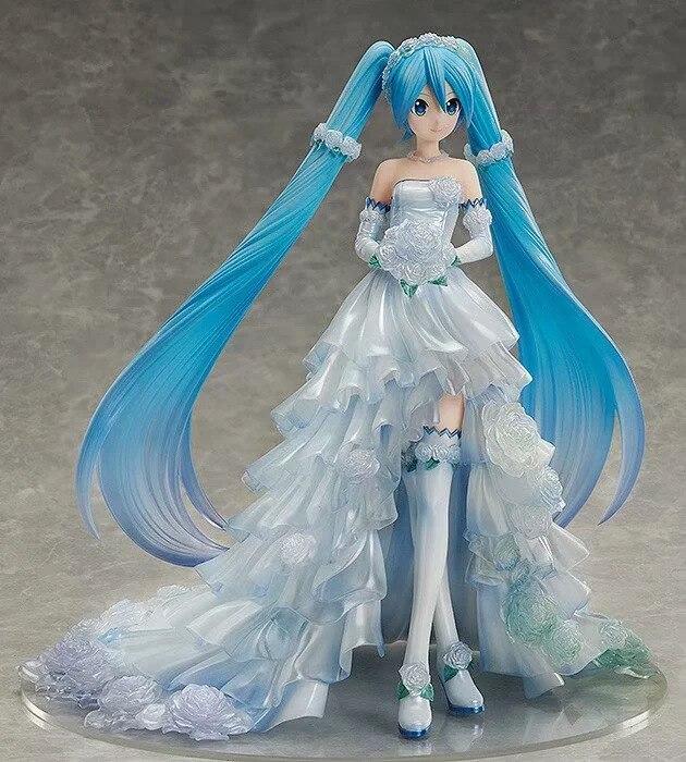 Nouveau 25 cm Anime Hatsune Miku robe de mariée Ver. Jouets de modèle de Collection de figurine d'action de PVC d'échelle de 1/7 pour le cadeau d'enfants