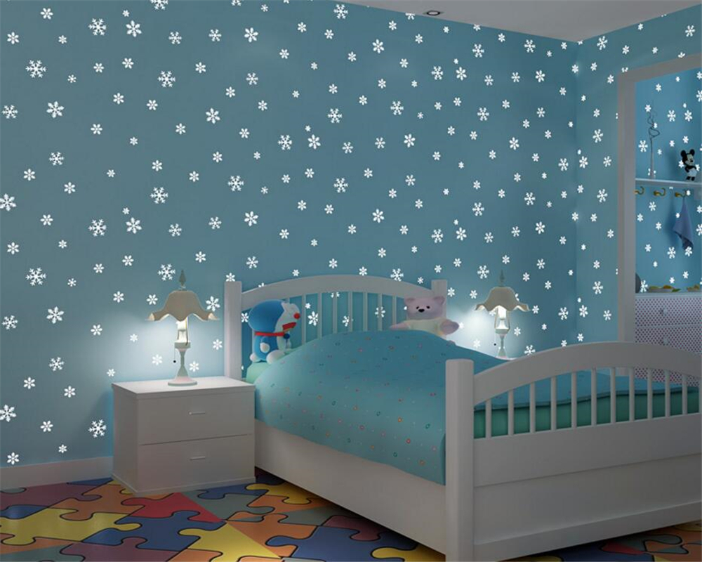 Buy beibehang luminous wallpaper for Kids room wall paper