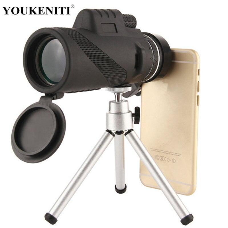 Ad alta Potenza 40x60 Telescopio Monoculare di Visione Della Luce di Notte Impermeabile Cannocchiale Viaggiare All'aperto Dispositivo Esterno