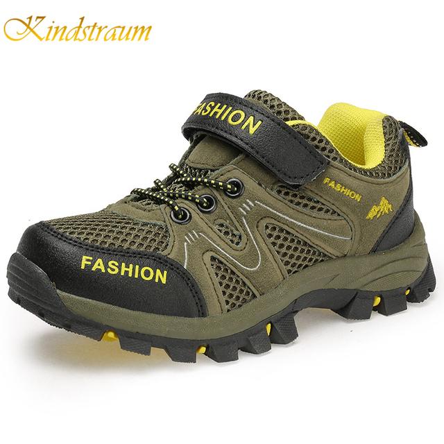 Kindstraum 2017 Super Esportes Dos Miúdos Sapatos Meninos Tênis de Marca de Alta Qualidade Sapatos Casuais Sapatos Primavera Verão Criança Subir Respirável, MJ037