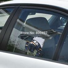 Newest Car Styling Naruto Kakashi Hitting the Glass Stickers Car Decal for Toyota Chevrolet Volkswagen Tesla Hyundai Kia Lada