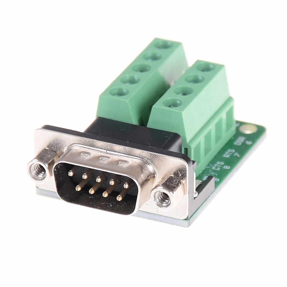DB9 コネクタ端子モジュール RS232 RS485 アダプタ信号インタフェースコンバータオス Com D サブ 9Pin 新到着