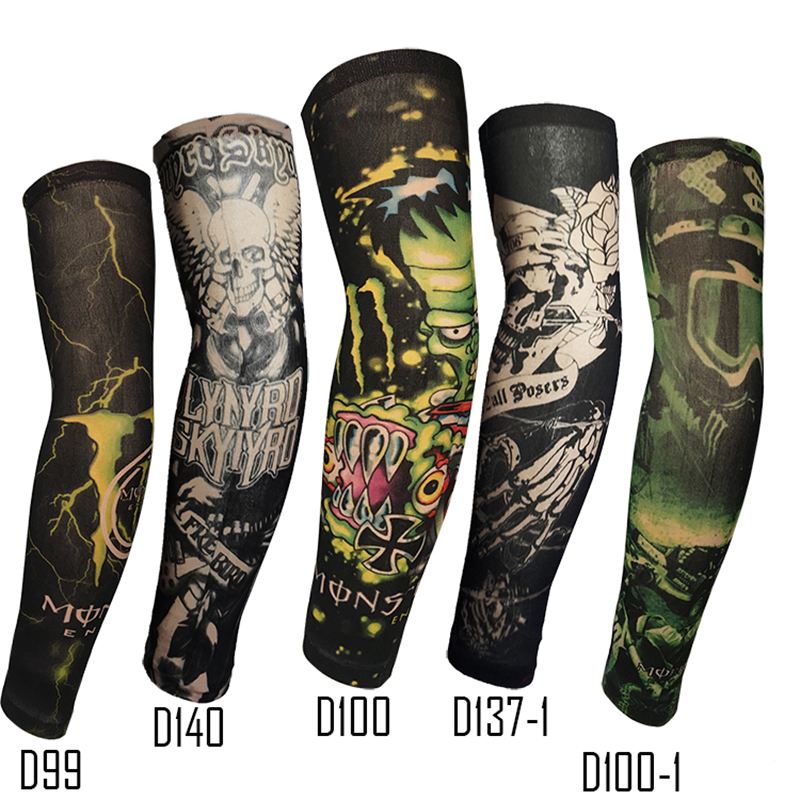 Fake Tattoo Arm Sleeve Straight Style Fashion Design Unisex UV Protection 1 Piece General Outdoor Temporary